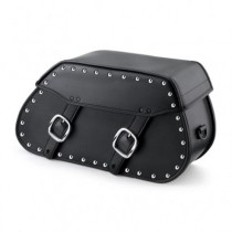 HMB-4111A FREE SHIPPING LEATHER MOTORCYCLE SADDLE BAG STUDS STYLE