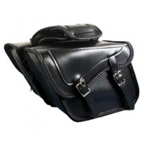 HMB-4163A FREE SHIPPING LEATHER MOTORCYCLE SADDLE BAG