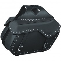 HMB-4169A FREE SHIPPING LEATHER MOTORCYCLE SADDLE BAG