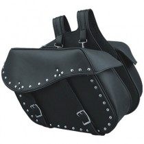 HMB-4171A FREE SHIPPING LEATHER MOTORCYCLE SADDLE BAG STUDS STYLE