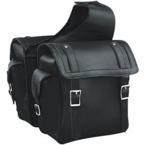 HMB-4184A FREE SHIPPING LEATHER MOTORCYCLE SADDLE BAG