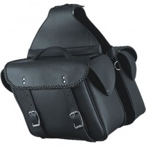 HMB-4188A FREE SHIPPING LEATHER MOTORCYCLE SADDLE BAG