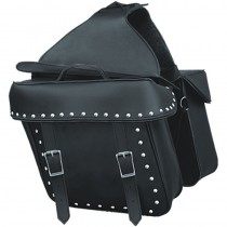 HMB-4191A FREE SHIPPING LEATHER MOTORCYCLE SADDLE BAG STUDS STYLE