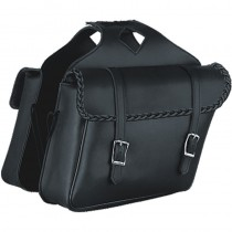 HMB-4199A FREE SHIPPING LEATHER MOTORCYCLE SADDLE BAG