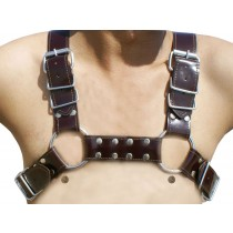 HMB-428F LEATHER CHEST HARNESS