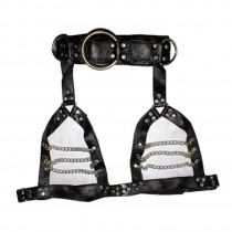 HMB-429H LEATHER CHEST HARNESS