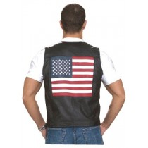 HMB-0495A Men Leather Vests Cowhide