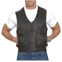 HMB-5030A Men Leather Vests Cowhide