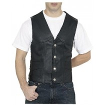 HMB-5050A Men Leather Vests Cowhide