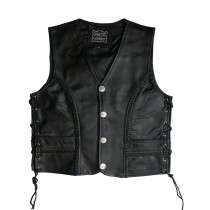 HMB-5060A Men Leather Vests Cowhide
