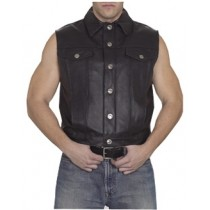 HMB-5080A  Men Leather Vests Cowhide