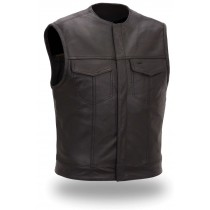 HMB-5080B  Men Leather Vests Cowhide
