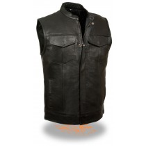 HMB-5080E  Men Leather Vests Cowhide