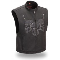 HMB-5081A  Men Leather Vests Cowhide