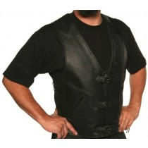 HMB-5085A  Men Leather Vests Cowhide