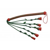 HMB-516I LEATHER ROSE FLOGGER FIVE O CAT  BULLWHIP SPANKING WHIPS FLOWERS STYLE