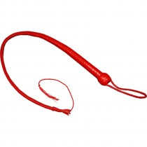 HMB-521B LEATHER BULLWHIP FLOGGER SPANKING BULL WHIP RED COLOR ON SALE
