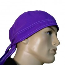 HMB-901A-F1 LEATHER SKULLCAP BANDANA CAPS DURAG HATS BIKER HEAD GEAR