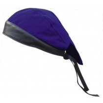 HMB-901A-F9 LEATHER SKULLCAP BANDANA CAPS DURAG HATS BIKER HEAD GEAR