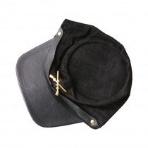 HMB-904D LEATHER CIVIL WAR MILITARY CAP BLACK ARMY GARRISON HATS FITS MOST