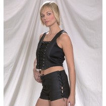 CW-224 LEATHER HALTER AND SHORTS