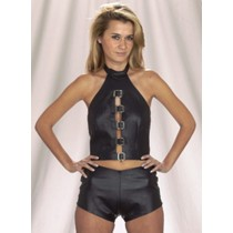 CW-246 LEATHER HALTER AND SHORTS