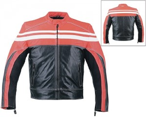 HMB-0412E GENUINE LEATHER JACKET MEN BIKER JACKETS ZIPOUT LINING