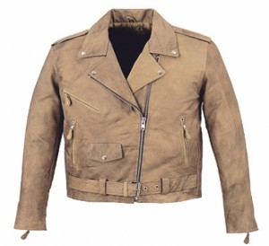 HMB-0414B GENUINE LEATHER JACKET MEN BIKER JACKETS ZIPOUT LINING