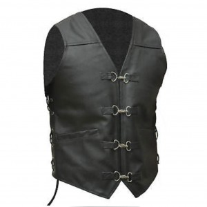 HMB-1123A Men Leather Vests Cowhide