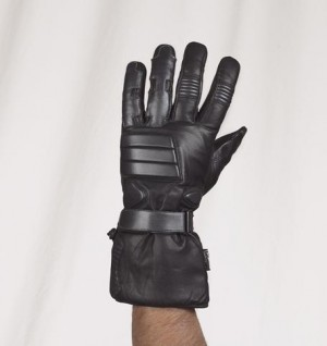 HMB-2039A LEATHER BIKER GLOVES RIDER CHOICE FULL FINGER