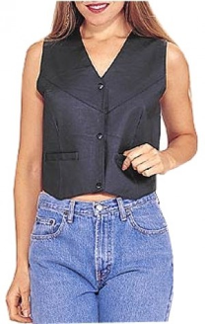HMB-0350A Women Leather Vests Cowhide.