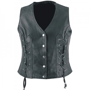 HMB-0352A Women Leather Vests Cowhide.