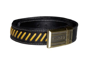 HMB-3932A LEATHER PANTS BELT BRAID STYLE WITH  BUCKLE