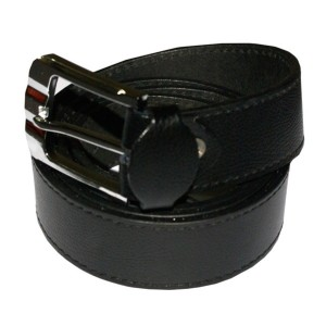 HMB-3935A LEATHER PANTS BELT PLAIN STYLE WITH  BUCKL