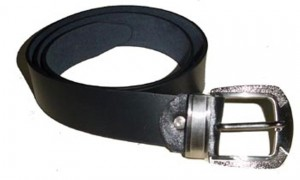 HMB-3938A LEATHER PANTS BELT PLAIN STYLE WITH  BUCKL