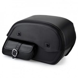 HMB-4136A FREE SHIPPING LEATHER MOTORCYCLE SADDLE BAG