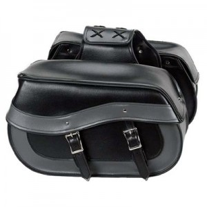 HMB-4149A FREE SHIPPING LEATHER MOTORCYCLE SADDLE BAG