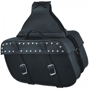 HMB-4197A FREE SHIPPING LEATHER MOTORCYCLE SADDLE BAG STUDS STYLE
