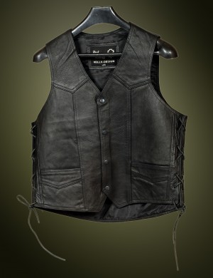 HMB-0501B Men Leather Vests Cowhide