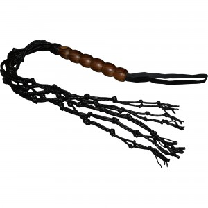 HMB-518B LEATHER WHIP FLOGGER BDSM WOODEN HANDLE WHIP BONDAGE BULLWHIPS