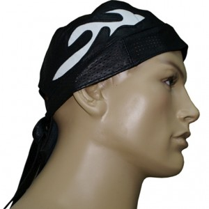 HMB-901B-2 LEATHER SKULLCAP BANDANA CAPS DURAG HATS BIKER HEAD GEAR