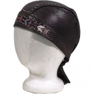 HMB-901J LEATHER SKULLCAP BANDANA CAPS DURAG HATS BIKER HEAD GEAR