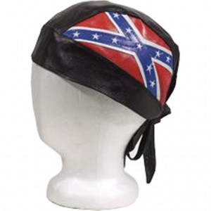 HMB-901L LEATHER SKULLCAP BANDANA CAPS DURAG HATS BIKER HEAD GEAR